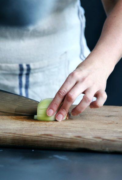 Chef Cutting Apple